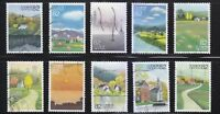 JAPAN 2014 EVOCATIVE MEMORY OF SEASONS (AUTUMN) ISSUE 3 COMP. SET OF 10 STAMPS