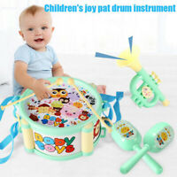 Toddler Baby Developmental Educational Drum Instruments Rattles Musical Toy Set