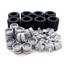 Large Vehicle Wheels Tires and Axels - Bulk Lego Compatible Building Block Parts