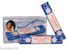 NAG CHAMPA - Lot de 12 Boites d'encens de 15G = 180G ! (Satya Sai Baba Incense)