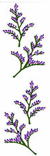 Mrs. Grossman's Stickers - Misty Blue - Purple Flower with Stem - 4 Strips