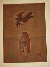 Ervin Neuhaus Epreuve Unique Dédoublement  signé art abstrait  1972 p 608