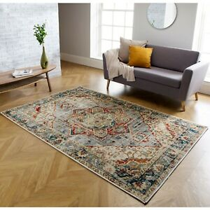 Traditional Rug Luxury Vintage Style  Small Medium Large Rugs Carpet Mat Runner