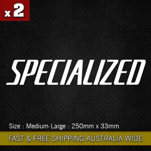 2 pcs Large Specialized vinyl sticker decal 250mm Bicycle Mountain Bike Cycling