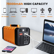 288Wh 300W Portable Solar Generator Power Rechargeable Battery Camping Laptop