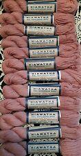 Lot of 12 Hiawatha Tapestry Needlepoint Wool Yarn Lady Handicraft Rose Pink 287