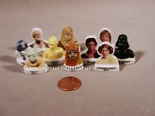 Hans, Luke, Princess Leia, Yoda, Star Wars Porcelain Miniatures French Feves