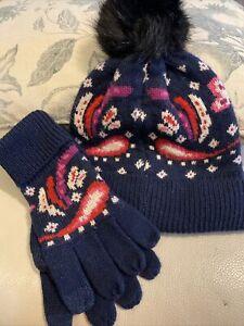 NEW! Vera Bradley SET OF 2: Women's Cozy Hat & Gloves ~ Painted Paisley ($74)