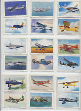 Lot of 18 1940s WINGS CIGARETTE Tobacco Cards All Series WW2 Airplanes Aircraft