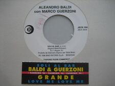 "ALEANDRO BALDI MARCO GUERZONI ""Soli al bar""- RARO 45 PR0M0 JB+STICK"