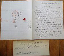 CYRUS AUGUSTUS BARTOL 1849 ALS Autograph Letter Signed, Unitarian Author, Clergy