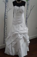 Wedding Dress White Satin 'Forever Yours' Size 12 NEW