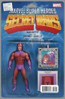Secret Wars #7 Christopher Action Figure Variant Magneto Marvel Comic 2015 NM