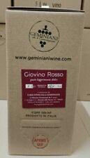 """Vino Rosso """"Giovino"""" fruttato - gusto amabile - Bag in Box 5 Litri Geminiani"""