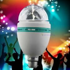 Hot Bulb LED Crystal B22 RGB Stade Tourner Couleur Light Party Disco Bar 220V AH