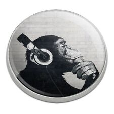 Headphone Chimp Monkey Wall Golfing Premium Metal Golf Ball Marker