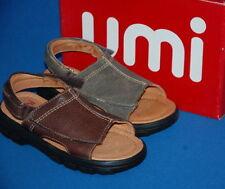 Sandales gris en cuir pour garçon de 2 à 16 ans