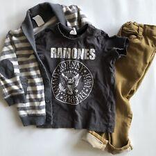 H&m Zara 18/24m Fall Outfit Bundle Ramones Tee Cardigan & Skinny Jeans