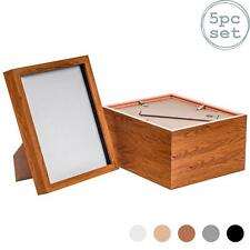 Box Picture Frame Deep 3D Photo Display 8x10 Inch Standing Hanging Dark Wood x5