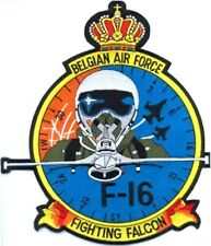 BELGIAN AIR FORCE F16 FIGHTING FALCON EMBROIDERED PATCH