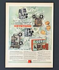 1959 Keystone Advertisement Movie Camera Zoom Lens Projector Vintage Print AD