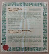 Rolex Warranty Paper Lady Datejust 69178  (23.07)