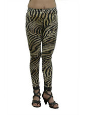 Vivian's Fashions Long Leggings - Brown Zebra (Junior and Junior Plus Sizes)