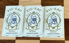 3X ZIG ZAG ROLLING PAPERS BRAUNSTEIN FRERES CIGARETTE 32 LEAVES PER BOOK 3 PACKS