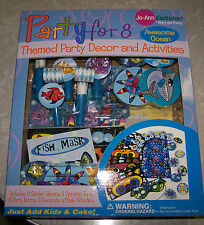 Party for 8 - Themed Party Decor & Activities - OCEAN - NIB!