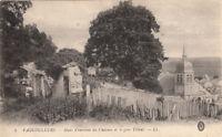 VAUCOULEURS 5 murs d'enceinte du château gros tilleul écrite 1914