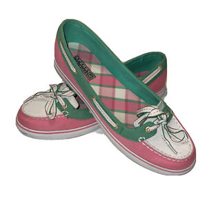 Sperry Top-Sider Womens Hailey Boat Shoes Multicolor Lace Up Moc Toe Low Top 10M