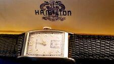 "Mens Hamilton ""Cameron"" 14k Solid Gold 19j Wrist Watch. 982 Mvt., Box  Ca.1937"