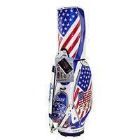Brand New Guiote TEAM USA Golf  staff bag 2015 model caddie cart bag Rainhood