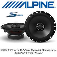 "Alpine S-S65 - 6.5"" (17 cm) Coaxial 2-Way S-Series Speakers 480W Total Power"