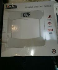Taylor- Glass Personal Scale white 400Lb.