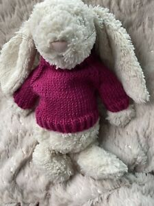 "Handmade ""TEDDY Jumper "" For 10-12"" Teddy Doll Or Medium Jellycat"