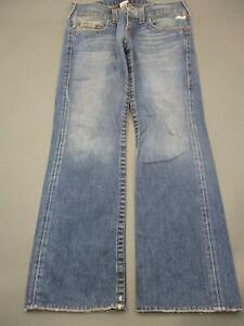 True Religion Size 33x33 Mens Blue 100% Cotton Bobby Bootcut Jeans T131