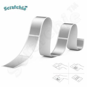 Scratchie   Scratch off Stickers   Silver Rectangle 42x23mm   48 Pack   RS42
