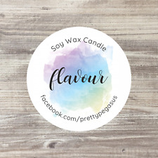 35 x Personalised Stickers, Soy Candle Stickers, Wax Melts Stickers, Wax Candles