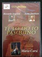 "Te Lo Do Io Pasquino Con Riccardo ""Galopeira""  - Dvd Nuovo Sigillato"