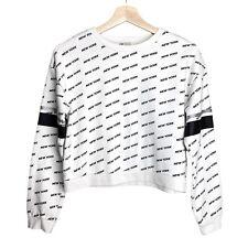 H&M Kids Sweatshirt Pullover Long Sleeve Sweater New York Logo Girls Size 12-14Y