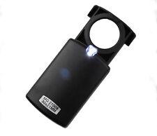 30 Fach Lupe Vergrößerungsglas Taschenlupe Leselupe Juwelierlupe Leuchtlupe LED