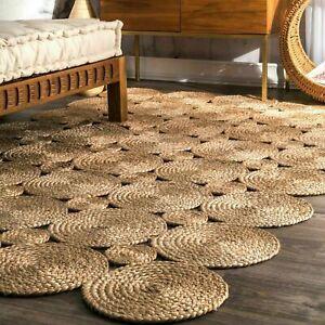 Jute Rug 100% Natural Jute Rectangle Rug Reversible Area Rug HEMP Carpet Rugs