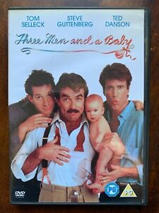 Three Men and a Baby DVD 1987 Comedy Movie Classic w/ Tom Selleck + Ted Danson