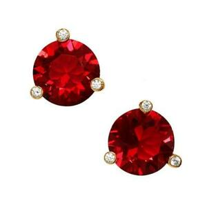 NWT KATE SPADE RISE AND SHINE SMALL ROUND STUD EARRINGS $38 RUBY RED