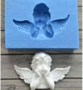 Silicone Angel Baby Fondant Mould Cake Wings Decorating Baking Wedding Mold DIY