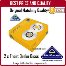 NBD083  2 X FRONT BRAKE DISCS  FOR RENAULT CLIO I
