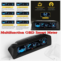 Car OBD2 Inclinometer Head Up Display Speedometer Code Clear Compass Slope Meter