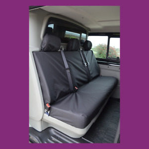 Vauxhall Vivaro Crew 2001-2014 Rear Back Tailored Waterproof Black Seat Covers