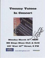 Tommy Tutone signed concert flyer power pop 867-5309